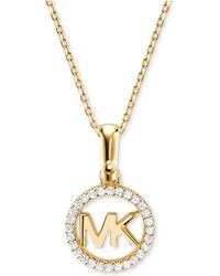 Michael Kors - Custom Kors Sterling Silver Logo Starter Necklace - Lyst