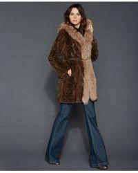 The Fur Vault - Reversible Mink Fox-trim Coat - Lyst