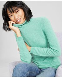 Charter Club Cashmere Turtleneck Sweater, In Regular And Petites, Created For Macys - Blue