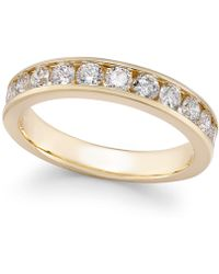 Macy's - Diamond Channel-set Band (2 Ct. T.w.) In 14k Gold Or White Gold - Lyst