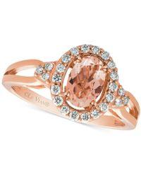 Le Vian - Peach Morganitetm (1/2 Ct. T.w.) & Diamond (1/5 Ct. T.w.) Ring In 14k Rose Gold - Lyst