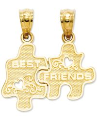 Macy's - 14k Gold Charm, Best Friends Puzzle Break-apart Charm - Lyst