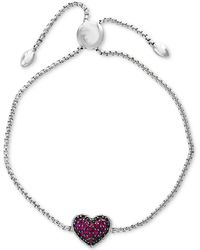 Effy Collection - Effy® Certified Ruby Cluster Slider Bracelet (5/8 Ct. T.w.) In Sterling Silver - Lyst