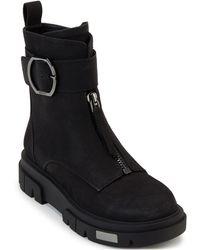 DKNY Laina Lug Sole Booties - Black