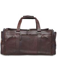 Mancini Buffalo Collection Duffle Bag - Brown