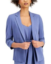 Bar Iii Open-front Blazer, Created For Macy's - Blue