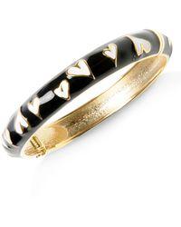 Betsey Johnson Heart Bangle Bracelet