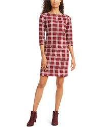 Charter Club Textured Plaid Dress, Created For Macy's