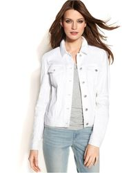 Vince Camuto Two By Long-sleeve Denim Jacket, White Wash
