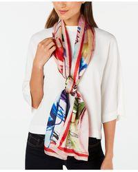Vince Camuto Waterpastel Floral Silk Oblong Scarf - Multicolour