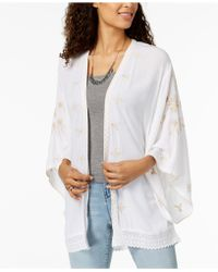 Style & Co. - Embroidered Kimono, Created For Macy's - Lyst