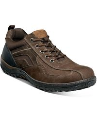 Nunn Bush Quest Bicycle Toe Oxford Sneaker - Wide Width Available - Brown