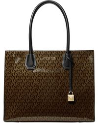 Michael Kors - Michael Mercer Glossy Signature Tote, Created For Macy's - Lyst