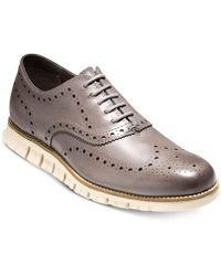 Cole Haan - Men's Zerogrand Leather Wing-tip Oxfords - Lyst