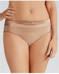 Amoena Lara Satin Brief Underwear - Natural