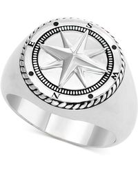 Effy Collection Compass Ring In Sterling Silver - Metallic