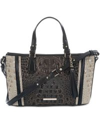 Brahmin - Crestview Mini Asher Embossed Leather Satchel - Lyst