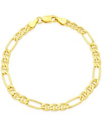 Giani Bernini Figaro Chain Bracelet In 18k Gold-plated Sterling Silver, Created For Macy's - Metallic