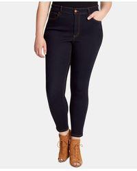 Jessica Simpson Trendy Plus Size Skinny Jeans - Blue