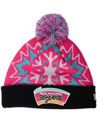 a4630495342 Lyst - 47 Brand  san Francisco 49ers  Pom Beanie in Red