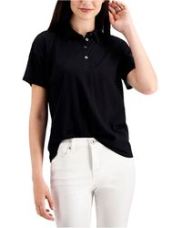 Style & Co. Polo Top, Created For Macy's - Black