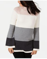 Charter Club Flare-sleeve Jumper, Created For Macy's - Gray