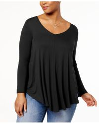 Soprano - Trendy Plus Size Swing Top - Lyst