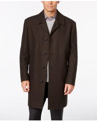 London Fog Coat, Coventry Wool-blend Overcoat - Brown
