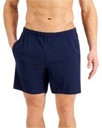 Alfani Quick-dry Pyjama Shorts, Created For Macy's - Blue