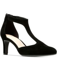 Clarks - Calla Lily T-strap Pumps - Lyst