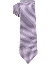 DKNY - Sky Line Silk Slim Tie - Lyst