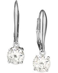 Danori - Earrings, Cubic Zirconia Leverback (1 Ct. T.w.) - Lyst
