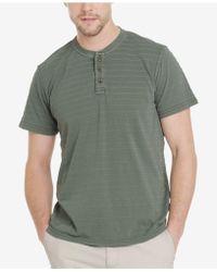 G.H. Bass & Co. - Jack Mountain Textured Henley T-shirt - Lyst