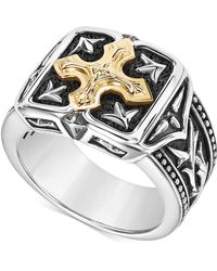 Scott Kay - Men's Two-tone Ring In Sterling Silver And 18k Gold - Lyst