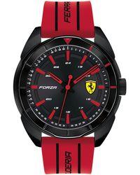 Ferrari - Forza Red Silicone Strap Watch 45mm - Lyst