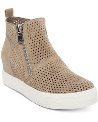146b353d2dc Lyst - Steve Madden Linqsp Wedge Sneakers in Natural