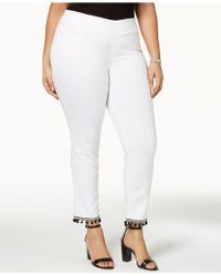 Style & Co. - Plus Size Pom-pom Pull-on Pants, Created For Macy's - Lyst