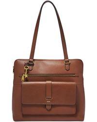Fossil - Kinley Shopper Handbags Brown - Lyst
