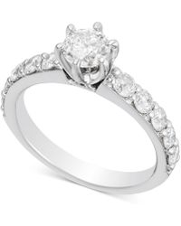 Macy's - Diamond Engagement Ring (1-1/2 Ct. T.w.) In 14k White Gold - Lyst