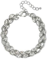 Badgley Mischka - Jewel Crystal Leaf Link Bracelet - Lyst