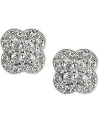 Giani Bernini - Cubic Zirconia Cluster Stud Earrings - Lyst
