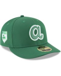 best cheap dec7a 5768e KTZ - Atlanta Braves St. Patty s Day Pro Light Low Crown 59fifty Fitted Cap  -
