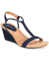 Style & Co. Mulan Wedge Sandals - Blue