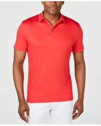04886e1a8 Alfani Ethan Solid Performance Polo in Red for Men - Save 72% - Lyst