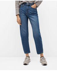Mango High-waist Balloon Jeans - Blue