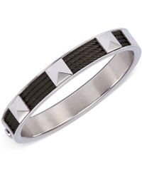 Charriol - Unisex Stainless Steel And Black Pvd Cable Bangle Bracelet - Lyst