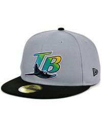 KTZ Tampa Bay Rays Gray Anniversary 59fifty Cap