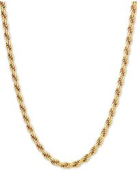 "Giani Bernini - Rope Link 22"" Chain Necklace In 18k Gold-plated Sterling Silver - Lyst"