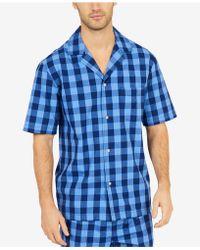 Nautica - Buffalo Plaid Short-sleeve Cotton Pajama Shirt - Lyst