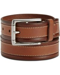 Tommy Hilfiger - Double-stitch Dress Belt - Lyst